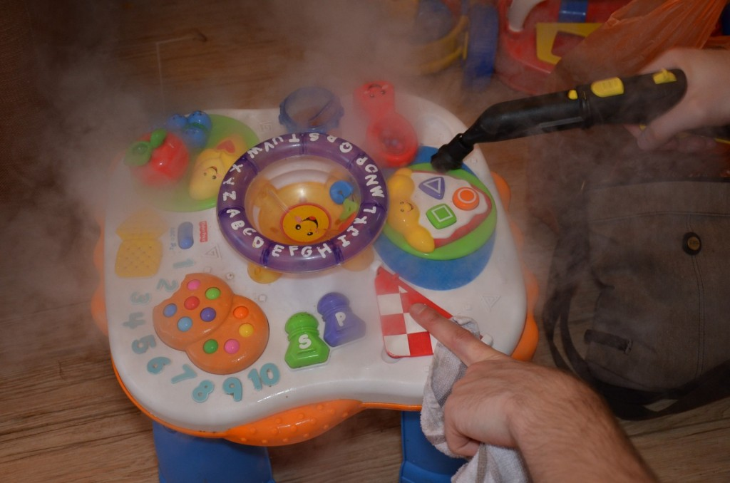 clean baby gear